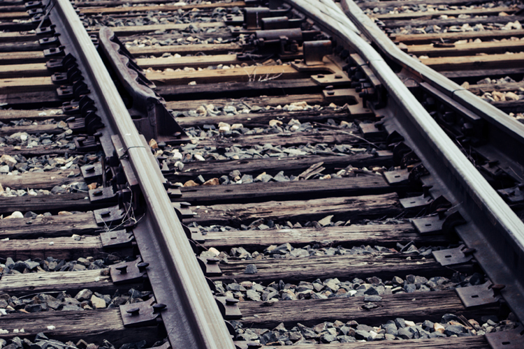 Railroad track railway