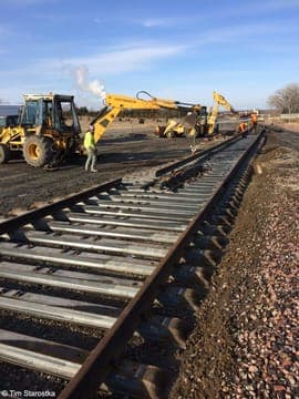 regular track maintenance concept image