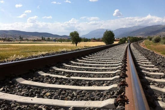 Railroad tracks through picturesque mid west - Rail Freight concept image