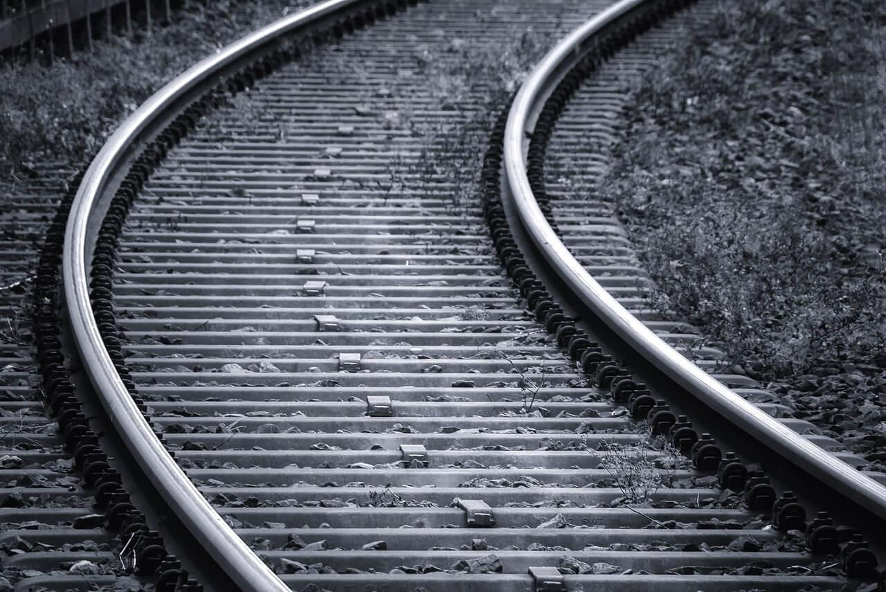 railroad track steel ties